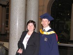 with my proud Mom